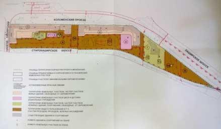 Пример Плана межевания из Проекта межевания квартала в Москве